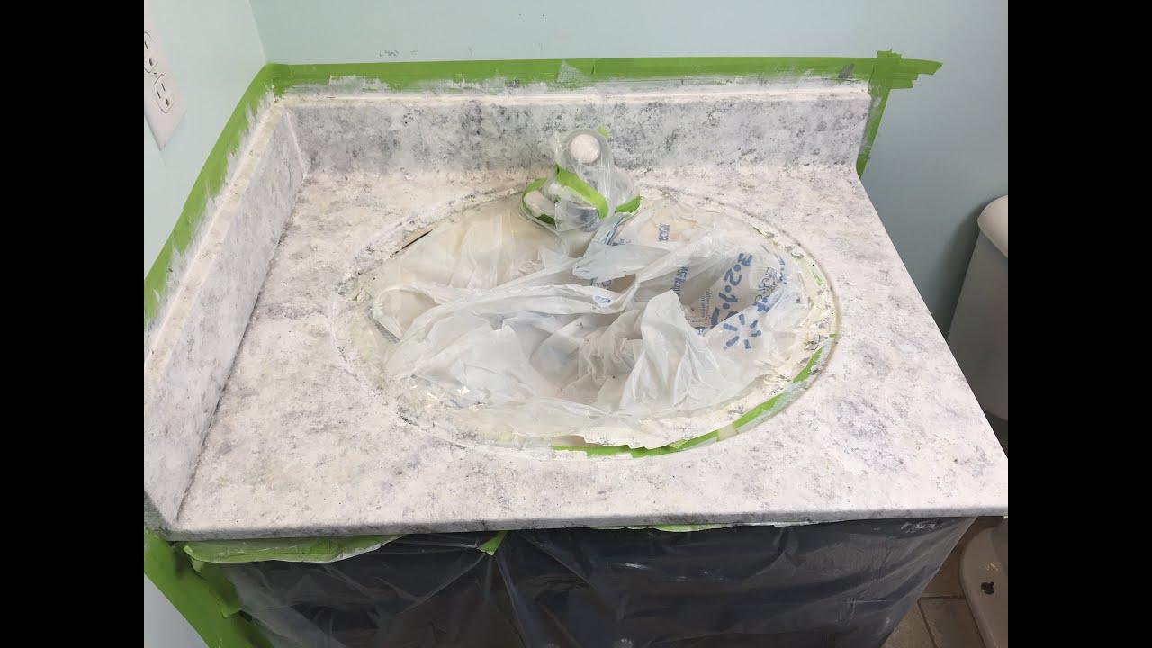 Diy Faux Granite Countertops Diy Faux Granite Countertops Supplies Part 1 Youtube