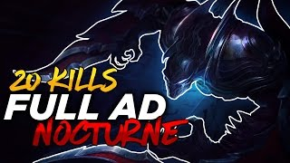 FULL DAMAGE NOCTURNE CARRY | League of Legends Commentary | Season 7