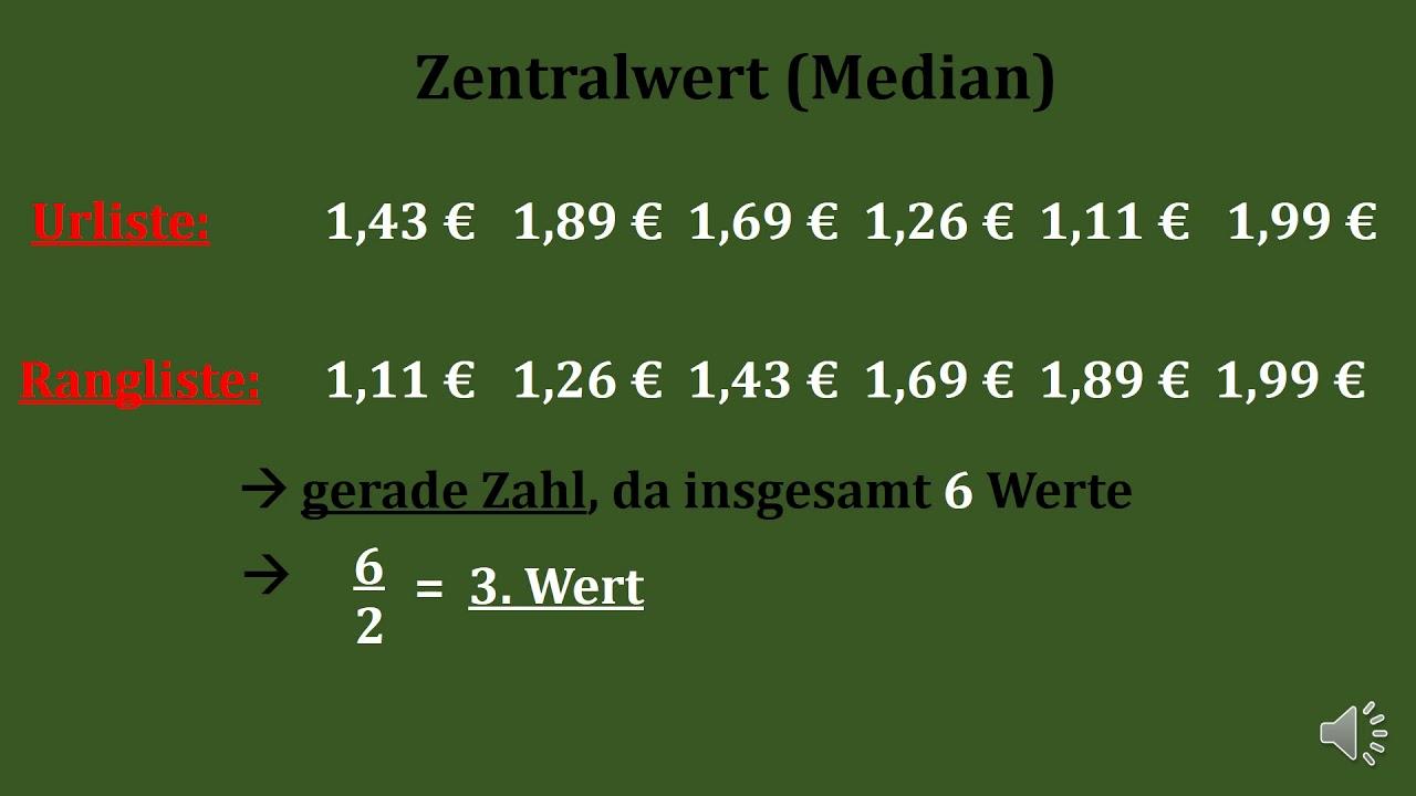median berechnen