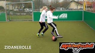 Mädchenfussball TV - So lernt ihr die Zidanerolle!