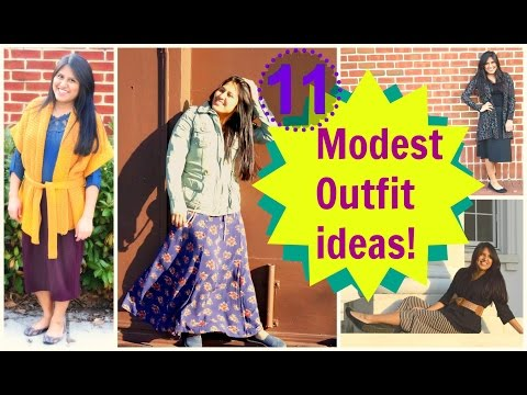 11 Modest Outfit Ideas - The beauty of Skirts