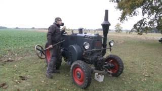 Anheizen und Starten eines 20 PS Lanz Bulldog Traktors von 1938