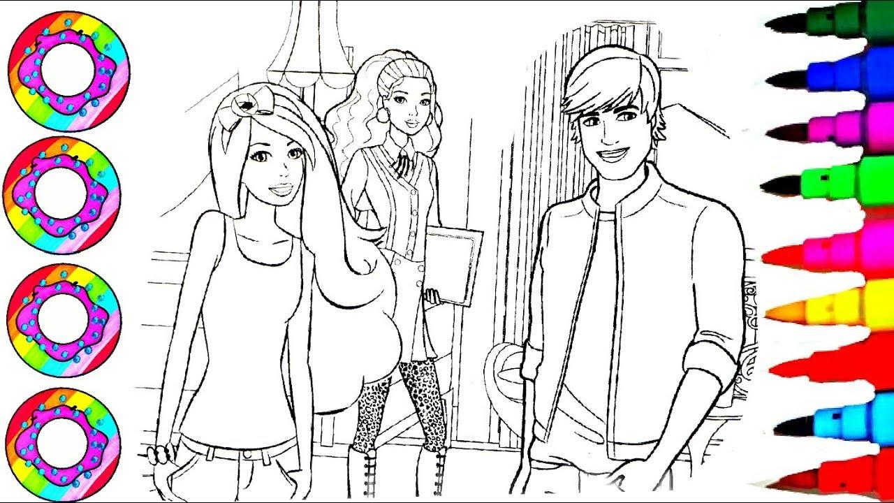Colouring Drawings Disney's Barbie Princess and Ken ...