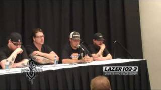 LAZER 103.3 - SLIPKNOT Paul Gray Press Conference
