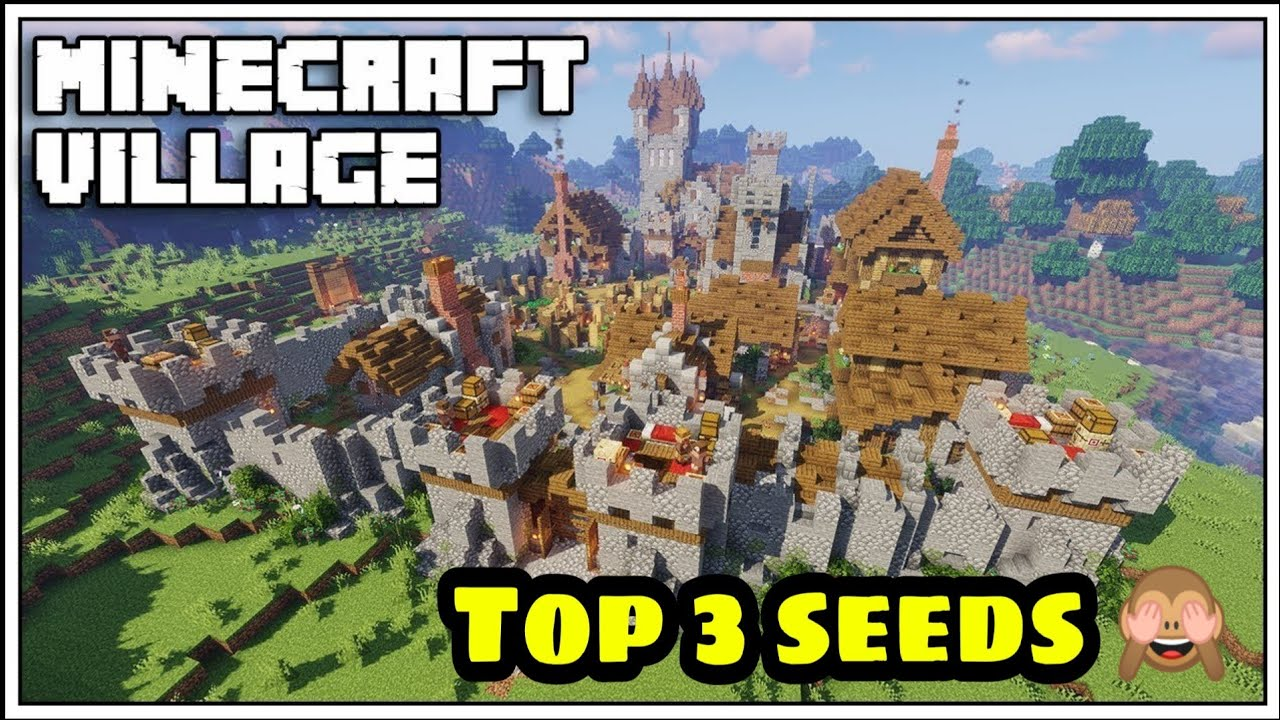 Download Big village seed in Minecraft pe | village seed | Minecraft gameplay | village