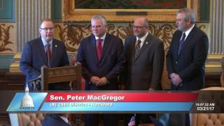 Sen. MacGregor voices support for Hunger Solutions Day in Michigan