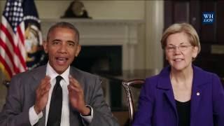 Obama, Warren Warn: Trump Will Undo Wall Street Reform