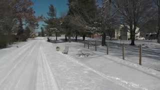 Kick Sledding (kinda), Sevierville, Tn 2014-01-29, Siberian Husky