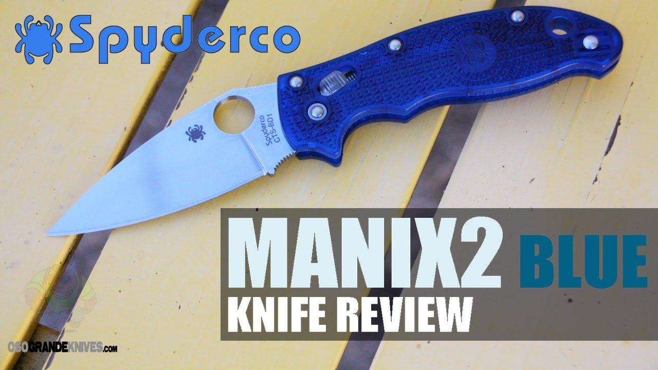 Spyderco Manix 2 C101PBL2 Knife Review | OsoGrandeKnives