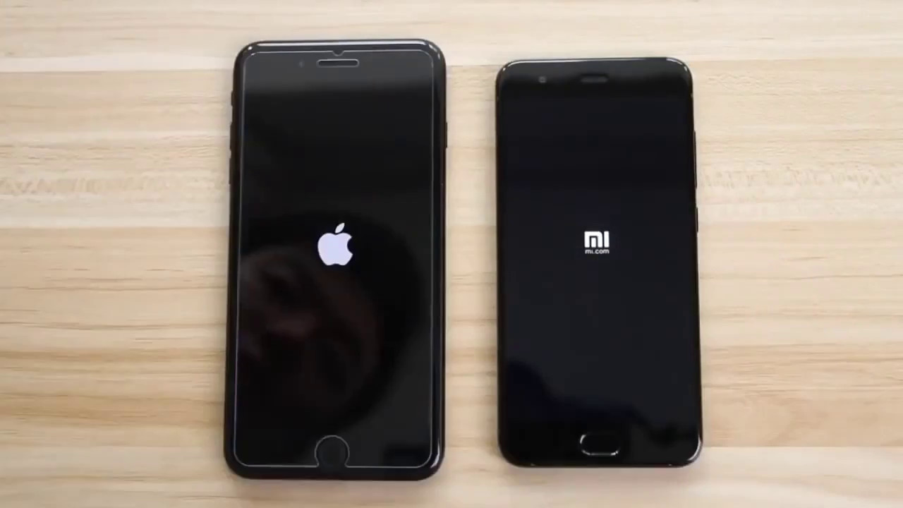 Xiaomi Mi6 vs iPhone 7 Plus - Booting Speed Test - YouTube