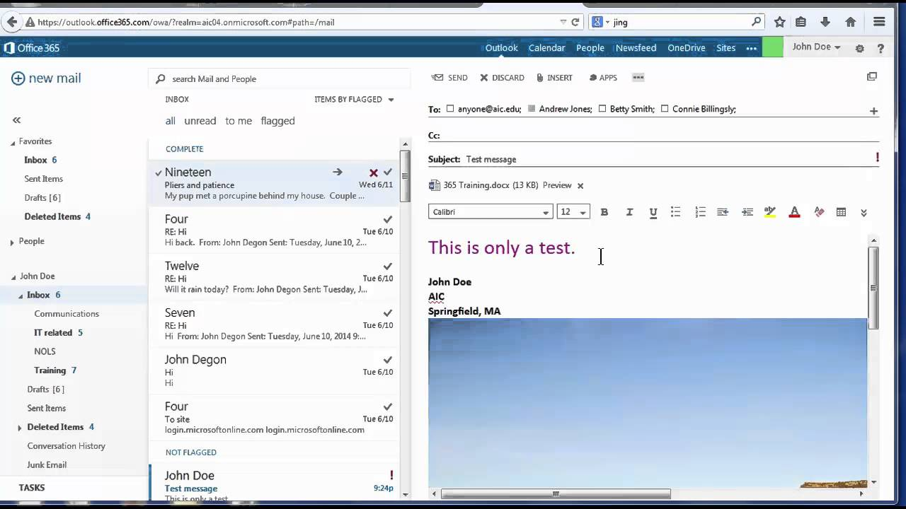 send and manage microsoft 365 email youtube