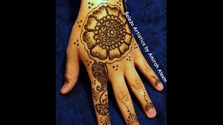 Indian inspired henna design