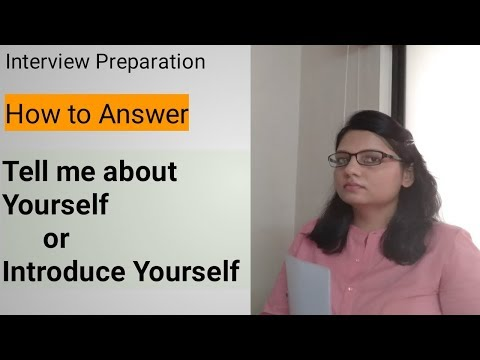 Interview Question:Tell me about Yourself|Best Answer|Interview Question