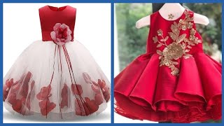 Top Stylish Embroidered Party wear Gown Style for Kids