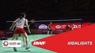 FUZHOU CHINA OPEN 2018 | Badminton WD - F - Highlights | BWF 2018