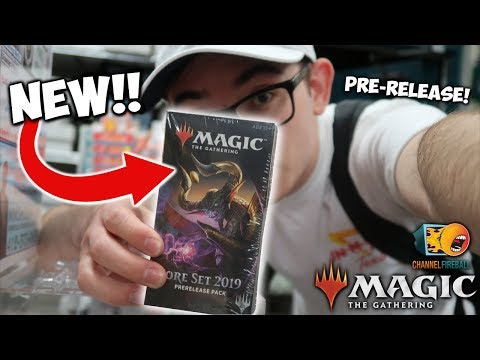 CRUSHING At My FIRST Magic: The Gathering Pre-Release! *NEW!* Core Set M19! ☀️💧💀🔥🌳