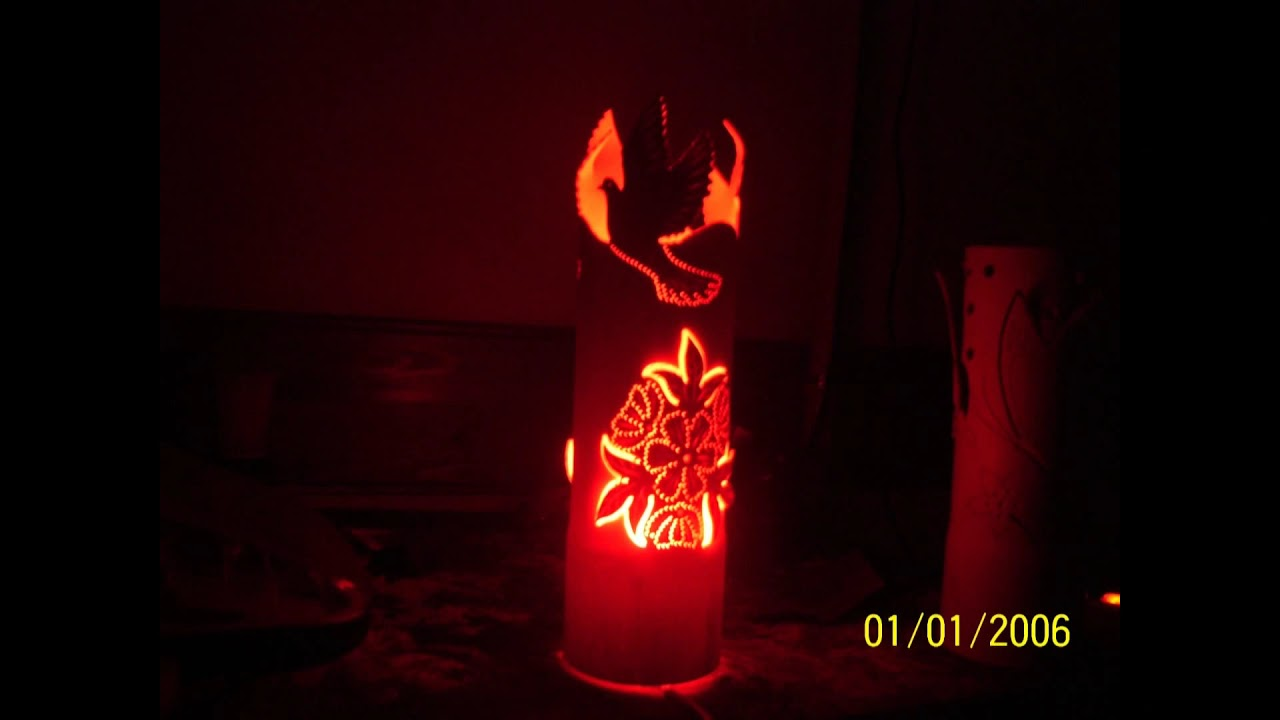 Diy Lampe Pvc Avec Lumiere Deco Youtube
