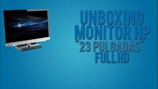 unboxing hp monitor led 23 tss 23x11 full hd hdmi vga dvi