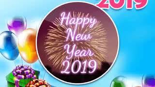 Happy new year 2019 Gif short clip