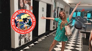 COME WITH ME TO MY ACTING SCHOOL 🎬| THE NEW YORK FILM ACADEMY | A DAY IN THE LIFE OF A NYC ACTRESS