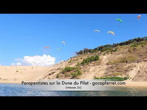 Farandole de Parapentes à la Dune du Pilat - Bassin d'Arcachon