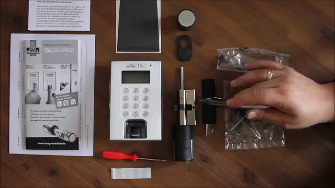 Elektronische Türschloss tse 5012 das elektronische türschloss burgwächter mit fingerscan