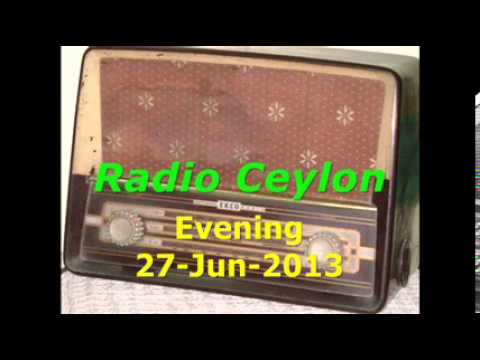 Radio Ceylon 27-06-2013~Evening Broadcast