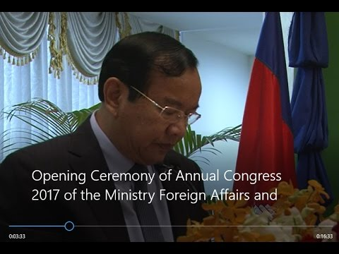 Opening Ceremony of Annual Congress 2017 of the Ministry of Foreign Affairs