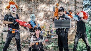 MASK Nerf War : Nerf Shooter's Alpha Warriors Nerf Guns Fight Criminal Group King's Man Mask