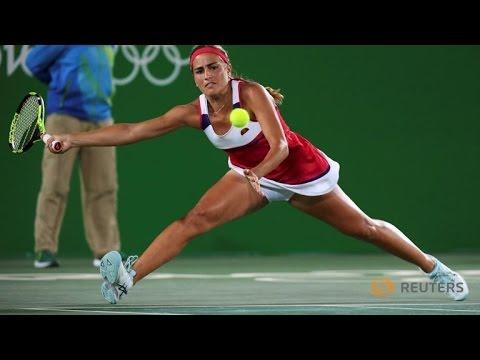 Monica Puig of Puerto Rico wins Gold in Singles Tennis- RIO OLYMPICS 2016