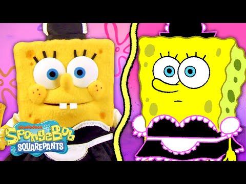 SpongeBob Helps a Homeless Squidward IRL 💸 SpongeBob Episode with Puppets!