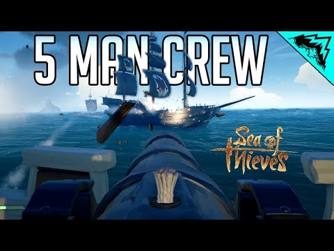 5 MAN CREW? - Sea of Thieves Most Deadly Crew (SOT Funny Moments & Highlights)