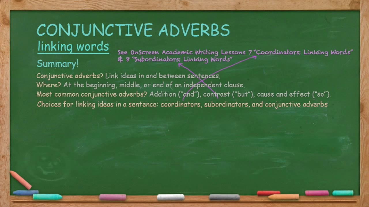 how to use conjunctive adverbs youtube