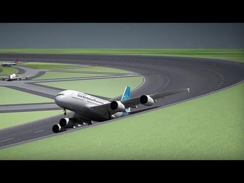Circular runway: Dutch researchers propose circular runways for future airports - Compilation