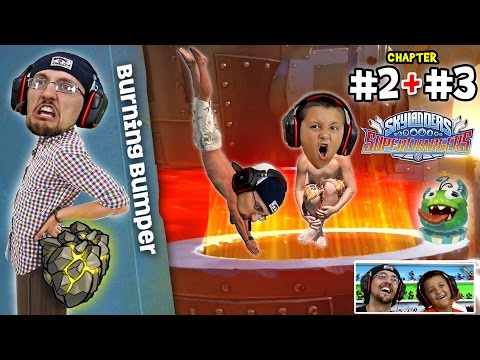 Lets Play SKYLANDERS SUPERCHARGERS Chapter 2 & 3: Motley Meadows & A Fuel's Errand (BURNING BUMPERS)
