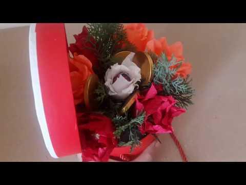 CREATIVE THINKING: FLOWER WITH CHOCOLATE. #FLOWER.цветок букет с шоколадом...  ÇİKOLATA BUKETİ🌷🌹💐