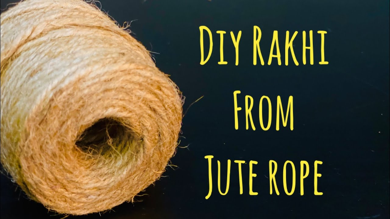 Easy Handmade Jute Rakhi |Rakhi from Waste Material| Lockdown Rakhi without Stones|Jute Thread Rakhi