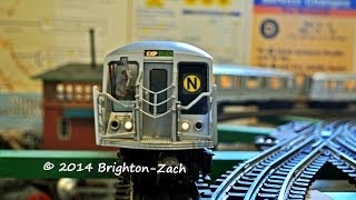 exclusive mth mta nyc transit 6 car r40 slant n train subway set
