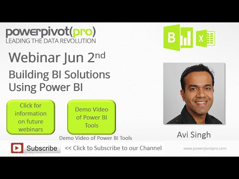 Power BI Webinar Recording 2015-06-02 : Building BI Solutions Using Power BI