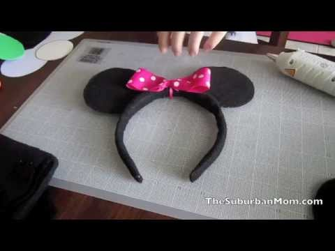 How to Make Mickey Minnie Mouse Ears Headband Tutorial ...