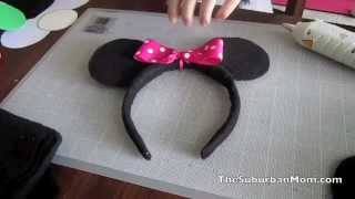 How To Make Mickey Minnie Mouse Ears Headband Tutorial