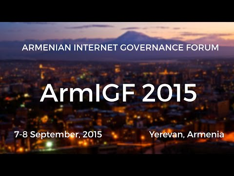 ArmIGF 2015 - E-tools for e-Society (Applications)