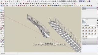 Video Sketchup: making stairs and bending with shape bender plugin download MP3, 3GP, MP4, WEBM, AVI, FLV Desember 2017