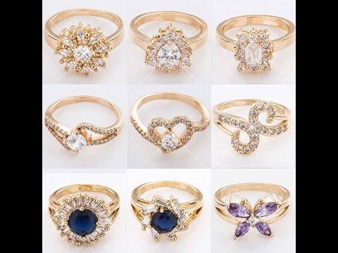 American Diamond Ring Collection Jewellery