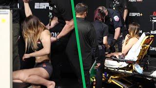 UFC fighter Julija Stoliarenko faints TWICE at weigh-ins; stretchered off