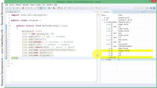 Java - Коллекция ArrayList - пример программы