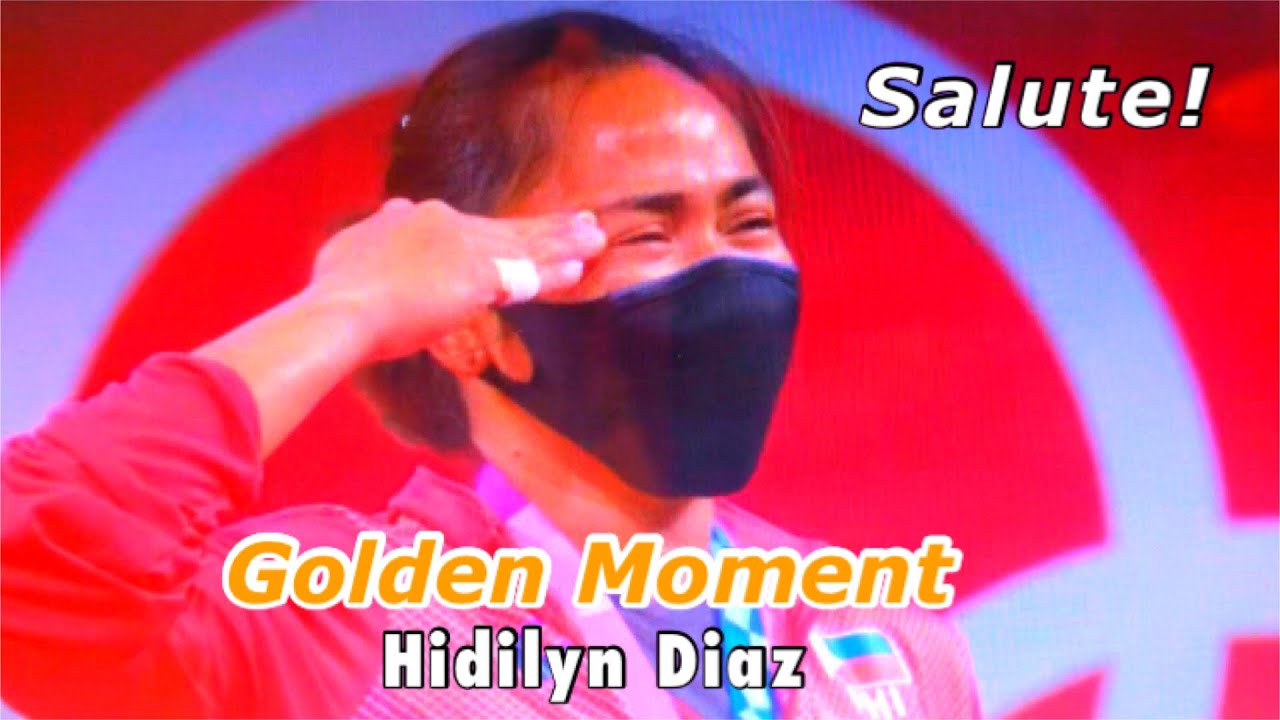 Hidilyn Diaz, Philippines' first Olympic gold medalist, salutes flag ...