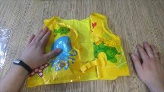 видео детский жилет для плавания