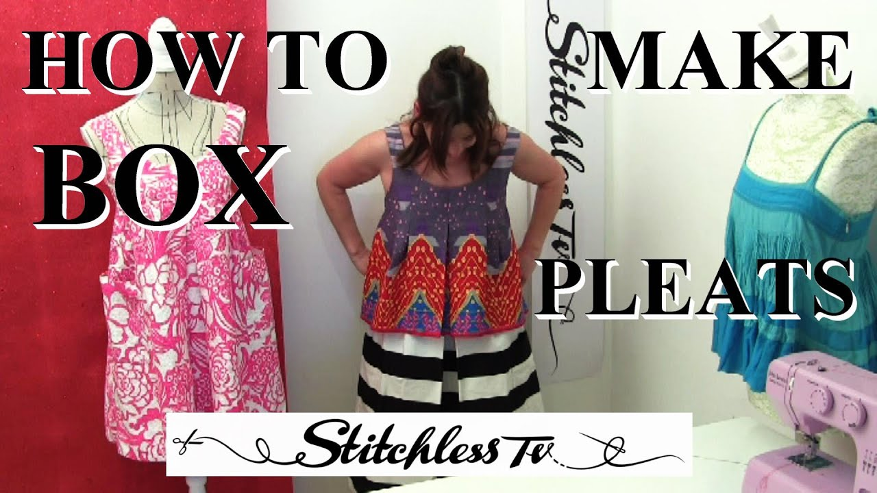 1a4e22dc9 How to sew easy box pleats - YouTube