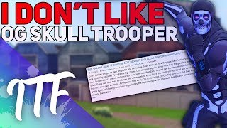 I Don't Like the Purple Skull Trooper Skin (Fortnite Battle Royale)